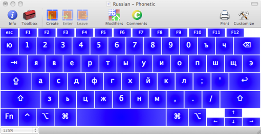 Russian Phonetic Final Layout